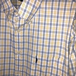 J.Crew Prep Style Button Down Yellow Plaid